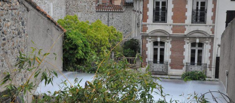 Vue sur le jardin de la chambre Collioure