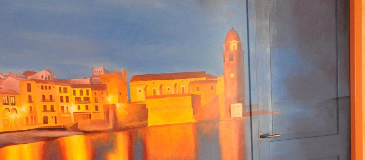 Fresque de la chambre Collioure
