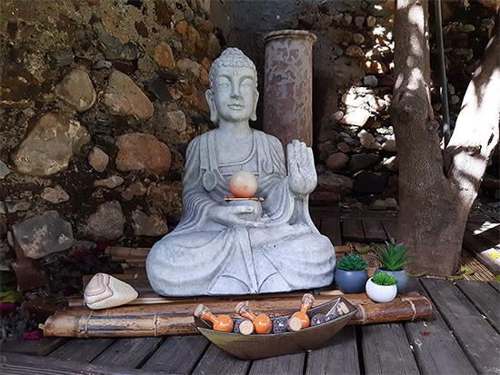 Coin zen bouddha